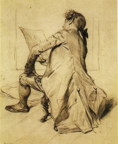 Artist, 1878 by Charles Bargue (French c.1826/27 -1883)