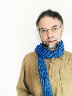 Wool Perforated scarf in endless blue by TheWovenSheep on Etsy, €37.00