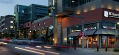 Overall context of store location. Take Five Cafe in the Brewery District in New Westminster