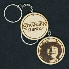Dustin Toothless  Stranger Things Engraved Wood Keyring