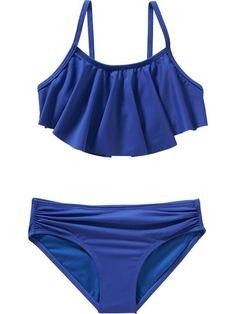 Old Navy Girls Ruffle Top Bikinis