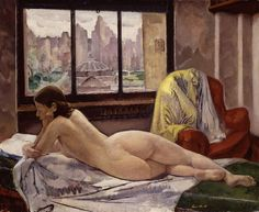 Leon Kroll (American, 1884-1974) – Reclining Nude in Interior, 1929 (Oil on canvas. Hirshhorn Museum and Sculpture Garden, Washington, DC)