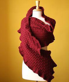 Custom Made Wedding Shawl - Hand-Knit Rococo Shawl / Wrap / Scarf - Custom Materials and Color