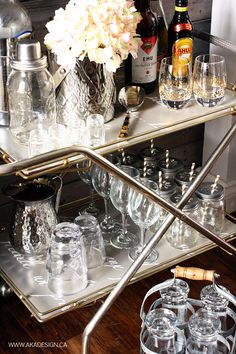 How To Style A Bar Cart Bar Carts Houston Tx And Bar