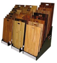 The Wood Display material slot stand for Parquet Flooring is manufactured to fit your hardwood and laminate sample size and thickness; show as many or as few samples as needed. Flooring Sale, Parquet Flooring, Wooden Flooring, Laminate Flooring, Floors, Ceramic Floor Tiles, Tile Floor, Wood Display Stand, Showroom Design