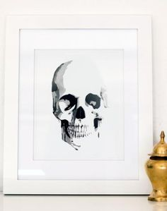 Skull print for black and white gallery wall.