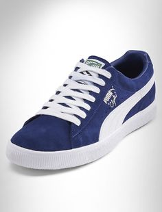 Puma® Clyde Script Suede Lace-Up Sneakers