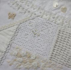 I ❤ crazy quilting & embroidery . . .  Tone on Tone for Ati ~By Ritva Peltola