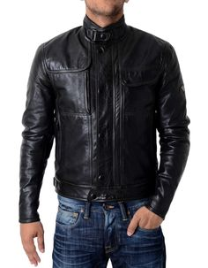 Matchless - Kensington Leather Blouson - Antique Blk | Accent Clothing