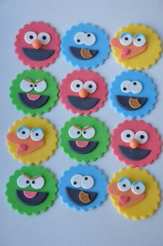 edible sesame street cupcake topper