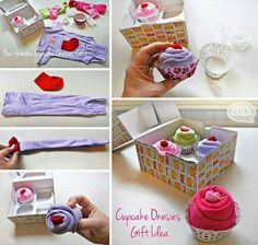 Cupcake onsies....what a great baby shower idea!