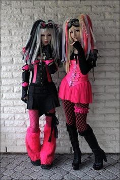 I like the one on the left more the other has a bit much pink for me :P  Pink & Black are back in style.