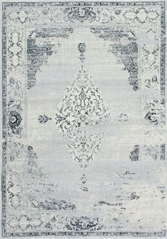 Nuloom Vintage Sherrell Light Grey Area Rug - look at Nuloom rugs for all rooms Light Blue Area Rug, Blue Area Rugs, Farmhouse Rugs, Modern Farmhouse, Farmhouse Decor, Polypropylene Rugs, Contemporary Area Rugs, Modern Rugs, Rugs Usa