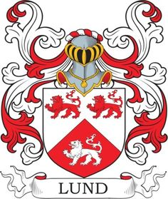 Lund Family Crest and Coat of Arms