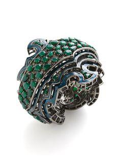 M.C.L. By Matthew Campbell Laurenza Sirens Of The Seas Green Glitter Enamel ... $2,685 $5,365