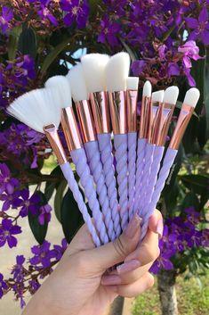 Makeup Brush Set, Makeup Kit, Makeup Tools, Skin Makeup, Beauty Makeup, Makeup Pallets, Makeup Supplies, Unicorn Makeup, Makeup Makeover