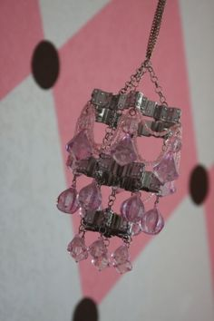 super cute Homemade chandelier