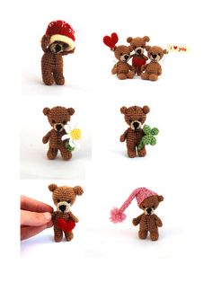 personalized teddy bear customized little by tinyworldbycrochAndi