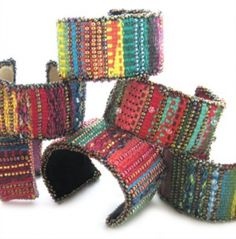 This colorful cuff project is perfect for beginning weavers; the PDF includes a thorough overview of weaving and tapestry techniques and terminology.Materials needed:-A Mirrix Loom (preferably size 12 or larger with a shedding device) and all that comes with one.-A ten-dent spring (if you do NOT...