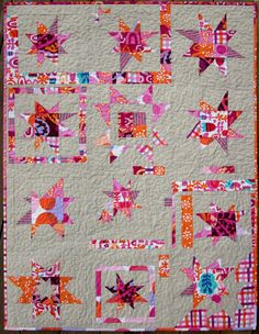 Wonky Star quilt by Twin Fibers #color