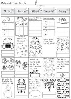Mathestarter 1x1 - Woche 5 und 6