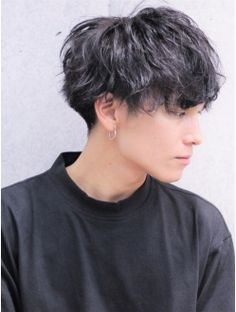 shitty quality picture ik but I think this would be Mateo's hairstyle just to make it easier on my ass Korean Wavy Hair, Wavy Hair Men, Curly Hair Cuts, Asian Hair, Curly Hair Styles, Tomboy Hairstyles, Undercut Hairstyles, Cool Hairstyles, Pixie Cut