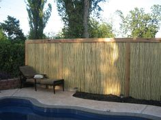 framed 34 in bamboo friendly fence poolside buy now