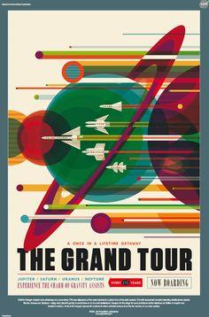 Reise zum Jupiter gefällig? So illustrierten Kreative aus Seattle Poster für die…