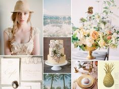 vintage tropical wedding inspiration
