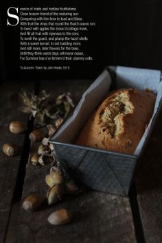 Miss Foodwise | Celebrating British food and Culture: Kentish Cobnut cake with apple compote - a marriage made in autumn