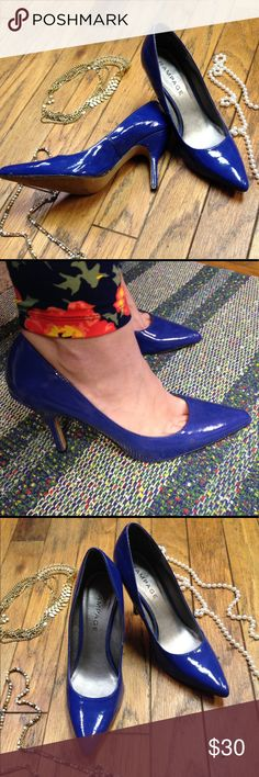 💃Blue Rampage Patent Pumps 10 Size 10 Patent bright blue pumps. Well made and in good condition. See photos. Loved these heels and treated them well--they just don't fit the teacher and fitness coach lifestyle--perfect for college outings though 😉 Please ask any questions before purchasing! Rampage Shoes Heels