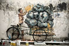 Fascinating Street Art by Ernest Zacharevic | Yatzer