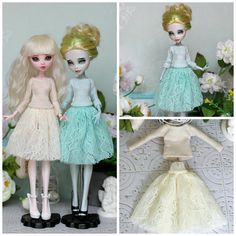 Mint / Vanilla Outfit for Monster High / Ever After High  and