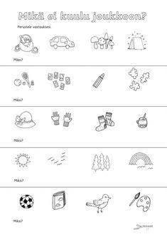 Päättelytehtävät - Värinautit Finnish Language, Pre School, Kindergarten, Teaching, Education, Blue Prints, Egg As Food, Kindergartens, Onderwijs