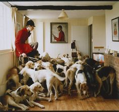 Otis Ferry and his Hunting Hounds   by Tim Walker