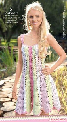 Crochet Dress Pattern For 8 Year Old Kenzo Knitted Dress Crochet Skirts, Crochet Blouse, Crochet Clothes, Crochet Lace, Knit Dress, Lace Dress, Crochet Tops, Jumper Dress, Crochet Designs