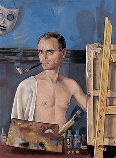 Felix Nussbaum Autoportrait au chevalet