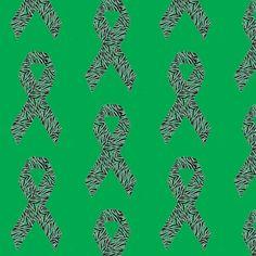 Green Rare Disease Ribbon fabric by annaliesbabyboutique on Spoonflower - custom fabric