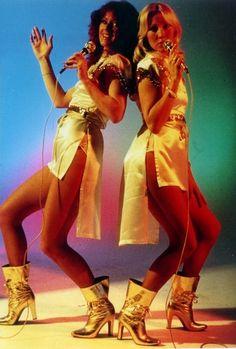 Annifrid and Agnetha of ABBA.
