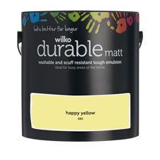Wilko Durable Matt Emulsion Paint                 Happy Yellow 2.5L