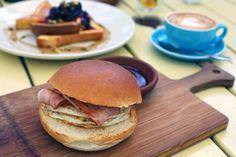 THE YARD CAFE – Gold Coast, Australia   Double Egg and Bacon Burger ($12AUD) Simple yet tasty