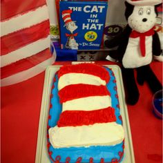 "My ""Happy Birthday Dr Seuss"" cake"