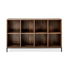 Darley  Cube Bookcase ($160) via Polyvore featuring home, furniture, storage & shelves, bookcases, brown, display shelf, display shelves, cube display shelves, book shelf and book display shelves