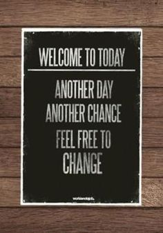 Welcome to today..