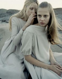 Milana Bogolepova and Sasha Gachulinkova by Yelena Yemchuk, Vogue Japan October 2006
