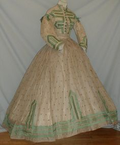 1860's fabrics | Super Cute late American Civil War/mid 1860's outfit