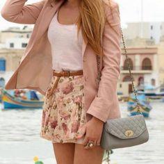 floral & pink blazer