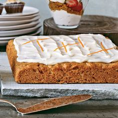 Perfect for entertaining, this carrot cake is low in cholesterol to boot. | Health.com