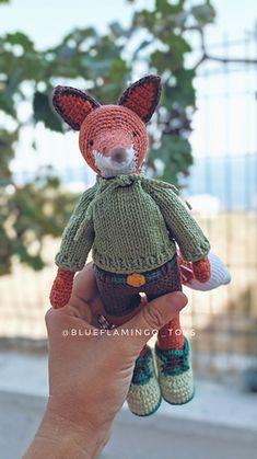 Ravelry: Lucas the fox pattern by Tatiana Gokus Crochet Fox, Crochet Animals, Double Crochet, Single Crochet, Fox Pattern, Cute Fox, Sewing Basics, Crochet For Beginners, Embroidery Techniques