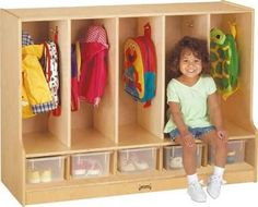 Jonti-Craft Toddler Coat Locker with Step
